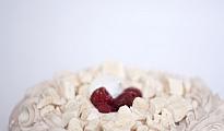 Torta de merengue frambuesa