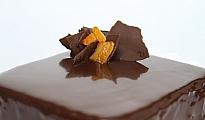 Torta de panqueque chocolate y naranja