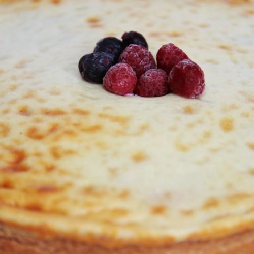 Kuchen de frambuesa con manzana